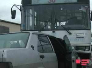 Sumqayıtda avtobus qəzası: ölən və yaralananlar var - FOTOLAR