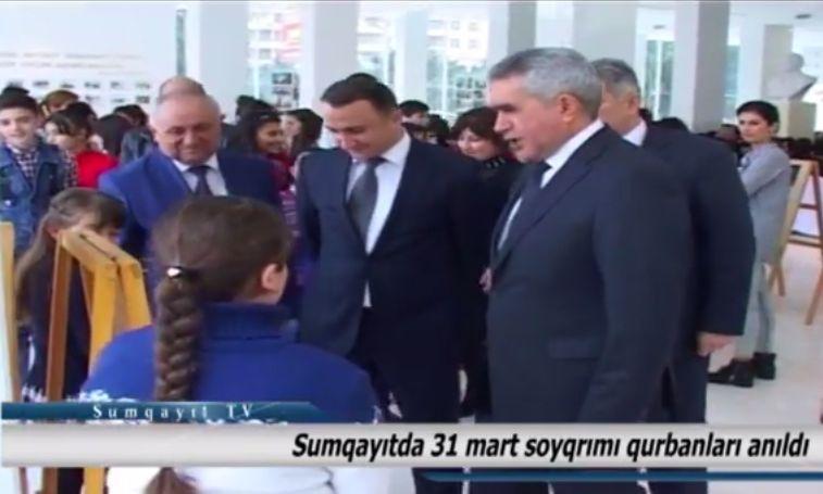 Sumqayıt TV: Sumqayıtda 31 mart soyqırımı qurbanları anıldı