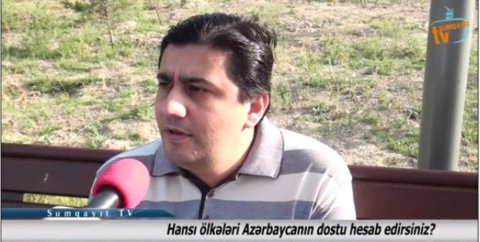 Sumqayıtlılar hansı ölkələri Azərbaycanın dostu hesab edir? - VİDEOSORĞU