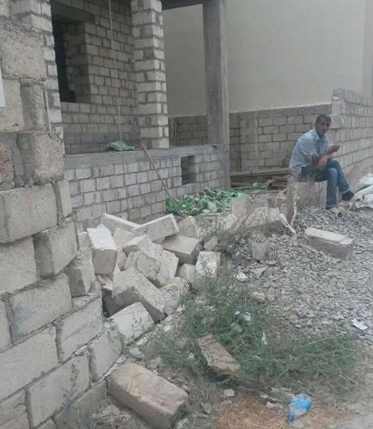 Sumqayıtda Qarabağ əlilinin hasarını sökdülər - FOTOLAR