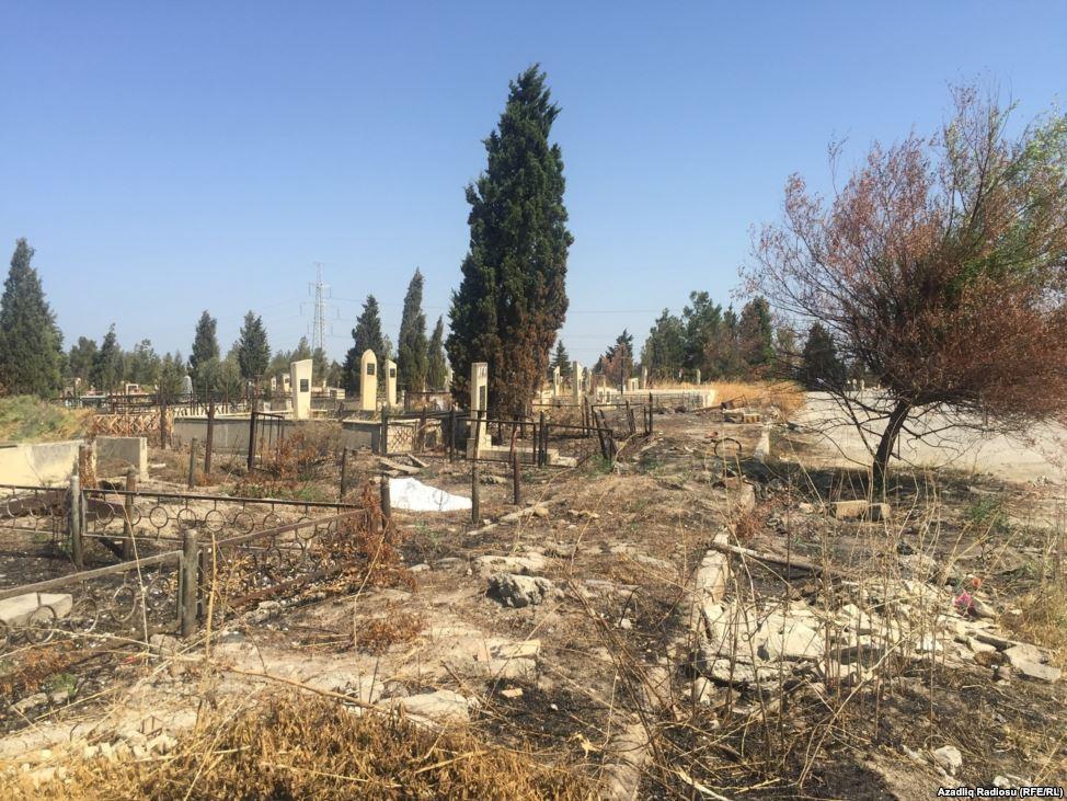 Sumqayıtda uçub-dağılan, itib-batan rus məzarlığı - FOTOLAR
