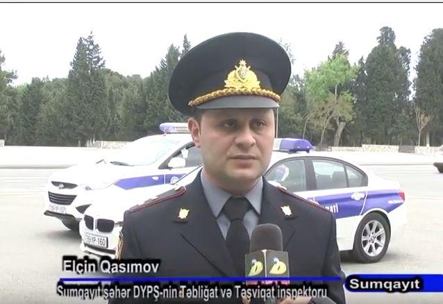 Sumqayıt sürücülərinin nəzərinə: yol polisi reydlərə başlayır –  VİDEO