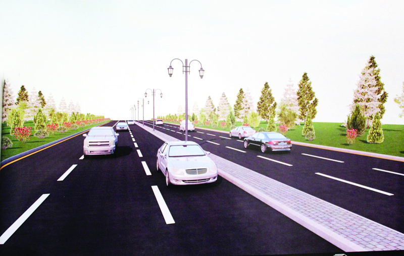 Sumqayıtın əsas girişində 2 yeni park salınır: gül-çiçək, avtodayanacaq və... - VİDEO