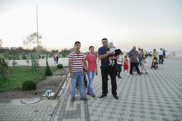 Ramil Səfərov və İbad Hüseynov Sumqayıtın yeni  bulvarında - FOTO