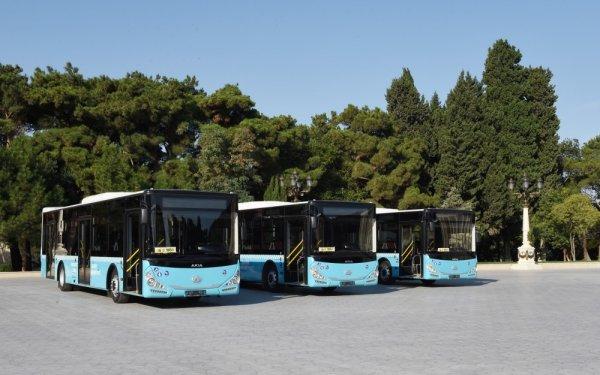 Prezident Sumqayıtda yeni sərnişin avtobusları ilə tanış olub - FOTO