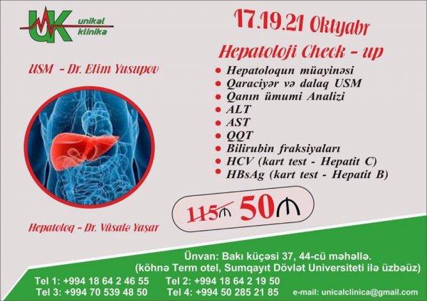 Sumqayıtda endirimli qiymətə check-up müayinə: ''Unikal  klinika''da bu fürsəti qaçırmayın! (R)