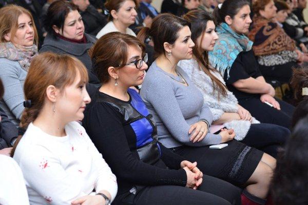 """Sumqayıtda """"Azərbaycan multikulturalizminin fəlsəfəsi"""" mövzusunda seminar keçirilib - FOTO"""