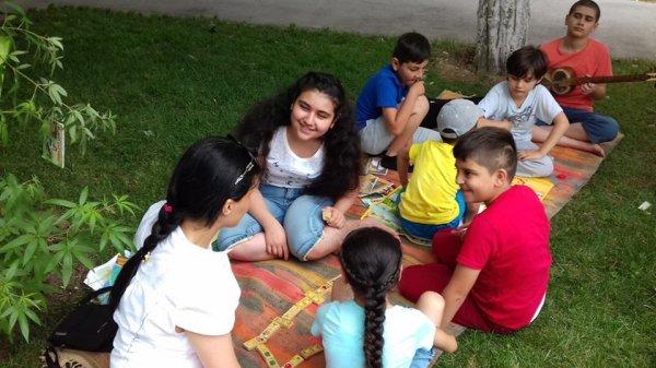 Sumqayıtda uşaqlar üçün əyləncə saatı təşkil olunub - FOTOLAR