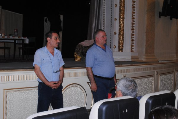 """Sumqayıt Dövlət Dram Teatrında yeni tamaşa - """"Ocaq"""" (FOTOLAR)"""