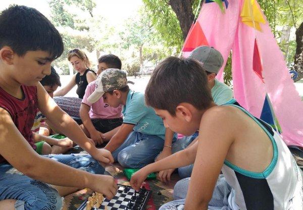 Sumqayıtda uşaqlar üçün əyləncə saatı təşkil edilib - FOTOLAR