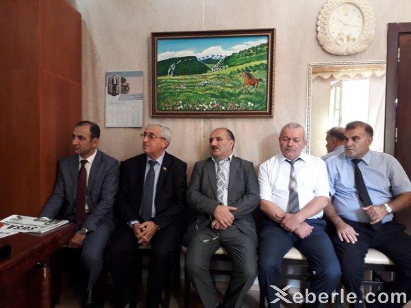 Mehman Şükürov mədəniyyət işçiləri ilə görüşdü - FOTOLAR