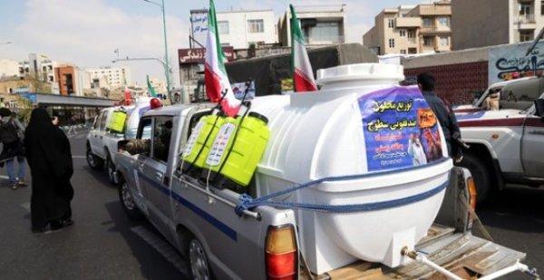 İran ordusu bioloji silahla dezinfeksiya işlərinə başladı - FOTO