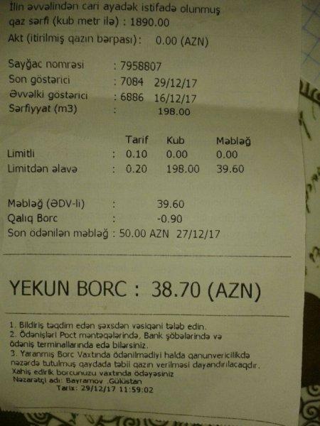 """DİQQƏT: """"Azəriqaz"""" sizi aldadıb pulunuzu almasın deyə bu xəbəri oxuyun - FOTOFAKT"""