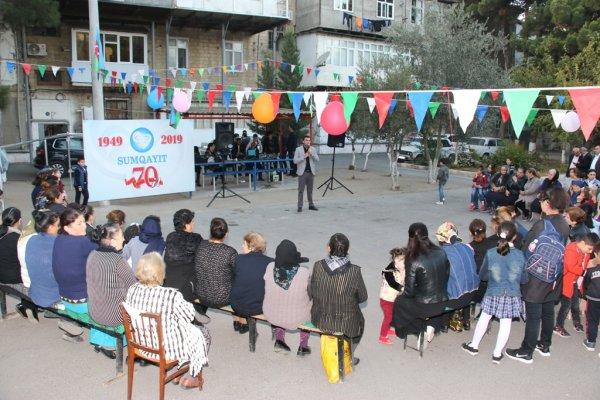 Sumqayıt şəhərinin 70 illiyi münasibətilə konsertlər keçirlib - FOTOLAR